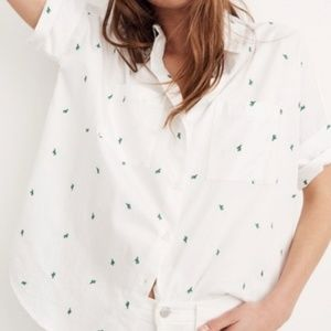 Madewell Embroidered Cactus Courier Shirt L